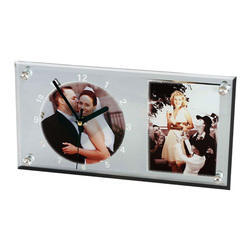 Sublimation Glass Clock with Frame-11