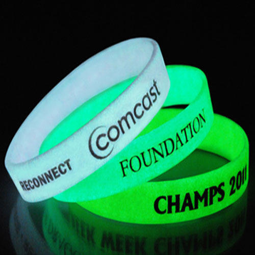 Dark PVC Silicone Wristbands