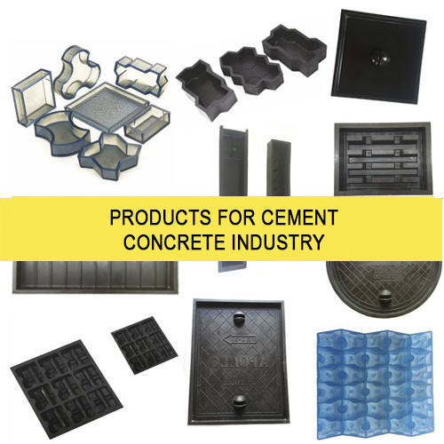 Rubber & PVC Paver Moulds For Cement Concrete Industry