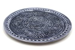 Embroided Round Plate