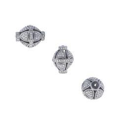 Diamond Silver Filigree Bead Findings