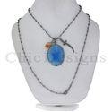 Silver Gemstone Chain Necklace