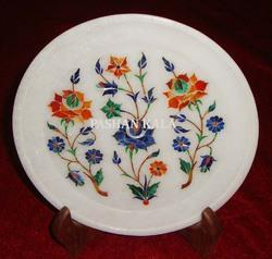 Marble Stone Inlay Decorative Plate