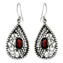 Charming Garnet 925 Sterling Silver Earrings