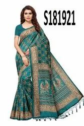 Printed Kashmiri Silk Saree