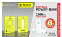 Troops Tp- 1016 2600 Pocket Power Bank Square