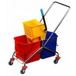 Double Bucket Mopping Trolley