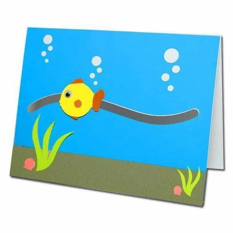 Kids greeting cards fun fish motion card manufacturer from chennai fun fish motion card m4hsunfo