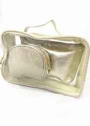 Shamax Golden 3 P.C. Set Cosmetic Bag