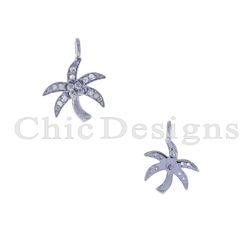Pave Diamond Palm Tree Charm