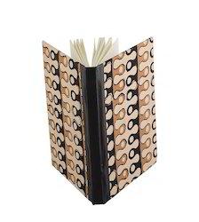 Handmade Paper Beige And Black Printed Diary