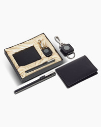 Black Leather Corporate Gift Set