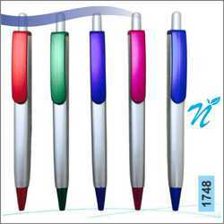 Plastic Square Silver Coloured Pen with Metallic colour part