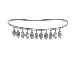 Diamond Marquise Charm Palm Bracelet