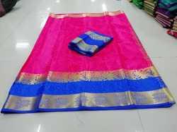 Poly Silk Jacquard Saree With Blouse Piece