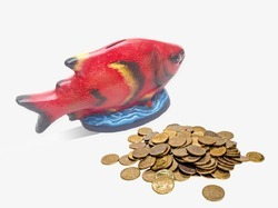 Fish Shape Money Bank