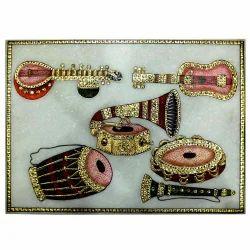Marble Dholak Sitar Painting
