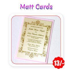 Multi Colors - Wedding Cards(Matt - A6 Size/ 300 gsm)
