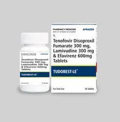Tudobest-LE - Tenofovir Disoproxil Fumarate 300 Mg , Lamivudine 300 Mg , Efavirenz 600 Mg Tablet