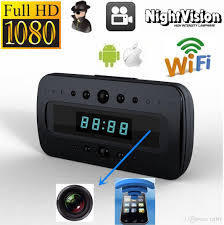 Wifi Secret Table Clock Camera