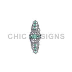 Diamond Emerald Knuckle Ring
