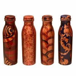 Printed Copper Water Bottle (Milk Bottle Shape)