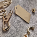 High Polish Metal Fittings for Leather Bags