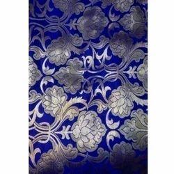 Embroidery Blue Kamkhwab Work