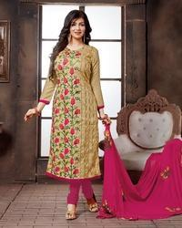 Unstitched Embroidered Dupatta Suit