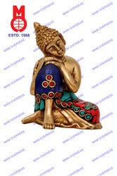 Lord Buddha Resting With Stone Work Statue