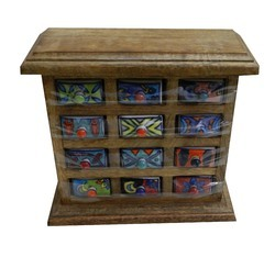 Ethnic Wooden Ceramic Drawers