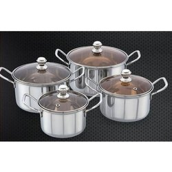 Coral Cookware Set With Glass Lid