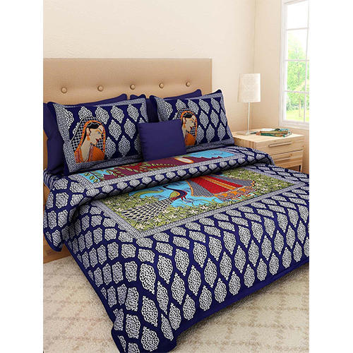 Bed Sheets   Jaipuri Cotton King Size Bed Sheets Manufacturer From Jaipur