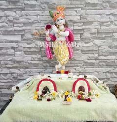 Colorful Krishna Marble Statue