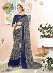 Printed Border Saree