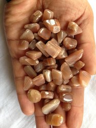 Peach Moonstone Healing Power Loose Tumbled Nuggets