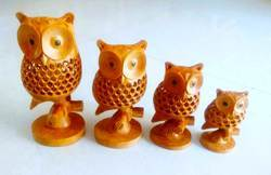 Wooden Undercut Tahani Owl Set