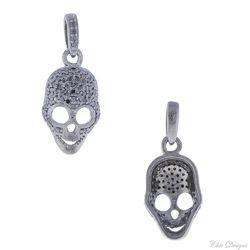 Black Diamond Skull Charm