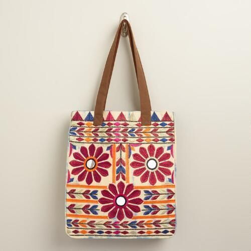 22531e164cc Embroidered Tote Bags at Best Price in India