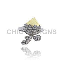 Silver Designer Mid Ring