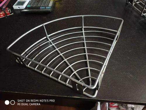 Chrome Wire Corner Basket