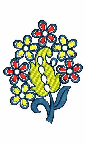 Applique Embroidery Design Dress Embroidery Design Neck Yoke