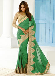 Embroidered Border Sarees
