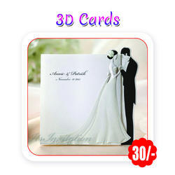 Multi Colors - Wedding Cards (3D - A5 Size/ 300 Gsm)