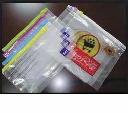 Multi Coloured Strip Zip Lock Bags