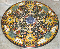 Marble Inlaid Coffee Table Top