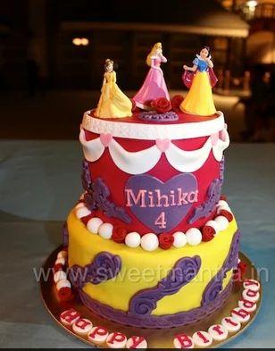 Princess Disney Princess Theme 3d Fondant Designer Birthday Cake