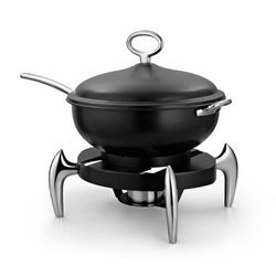 Wok Style Black Chafer with Smart SS Legs
