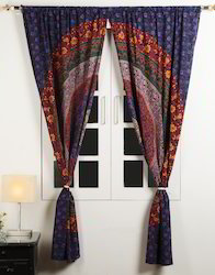 Mandala Hand Printed Cotton Door And Window Home Curtain