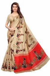 Khadi Printed Silk Saree